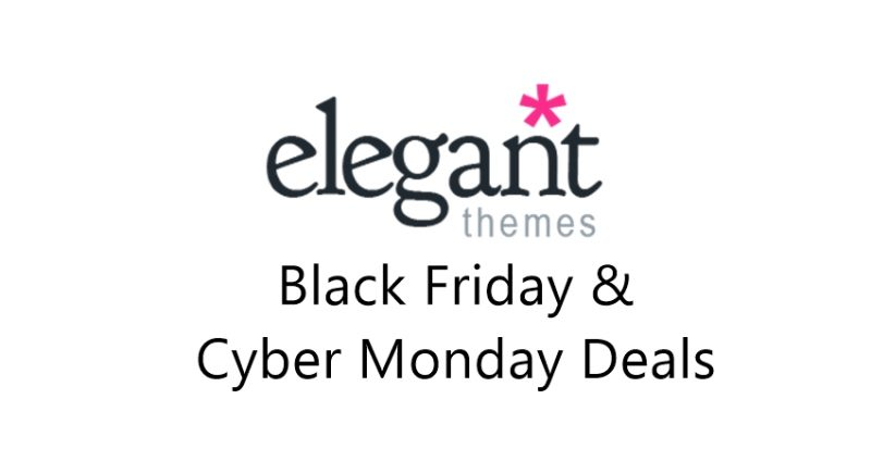elegant theme black friday