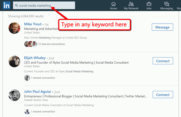 linkedin search tips to find b2b influencers