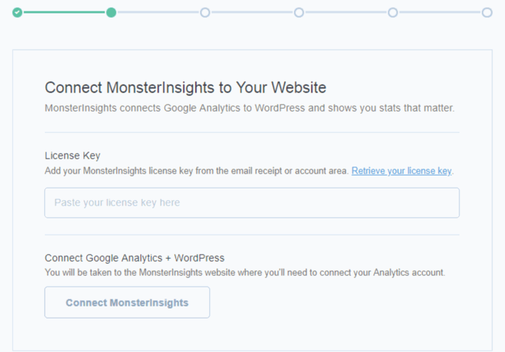 activate MonsterInsights Setup wizard