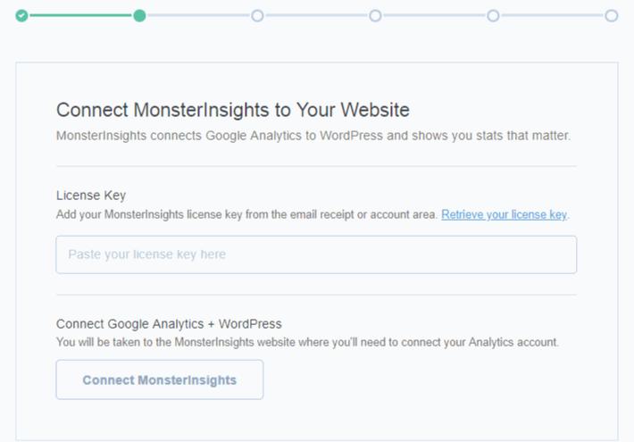 activer l'assistant de configuration MonsterInsights