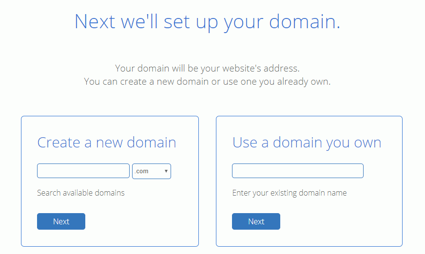 choose domain bluehost